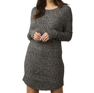prAna Gray Cableknit Sweater Dress